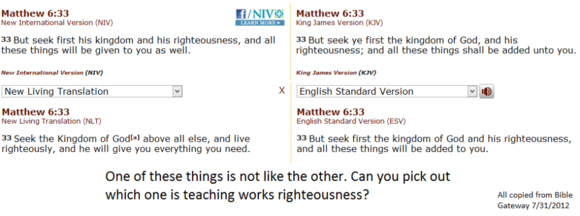 Bible Translations: One of These is Not Like the Others